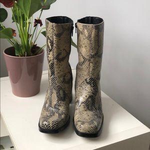 MIA Snakeskin Boots